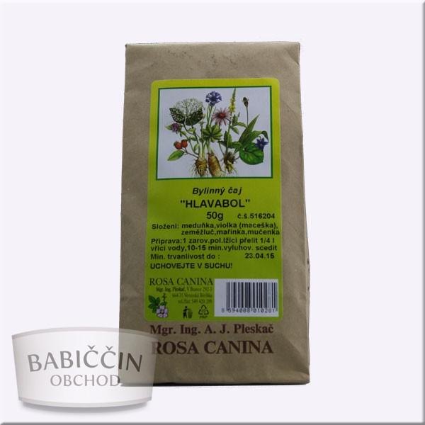 Byliny - otec Pleskač - Bylinný čaj Hlavabol 50 g Rosa Canina