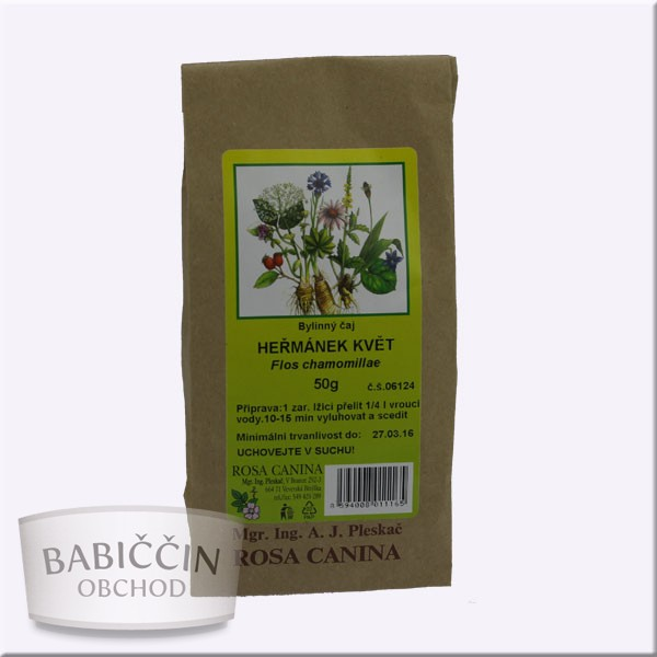 Byliny - otec Pleskač - Harmanček kvet-Flos chamomillae 50 g