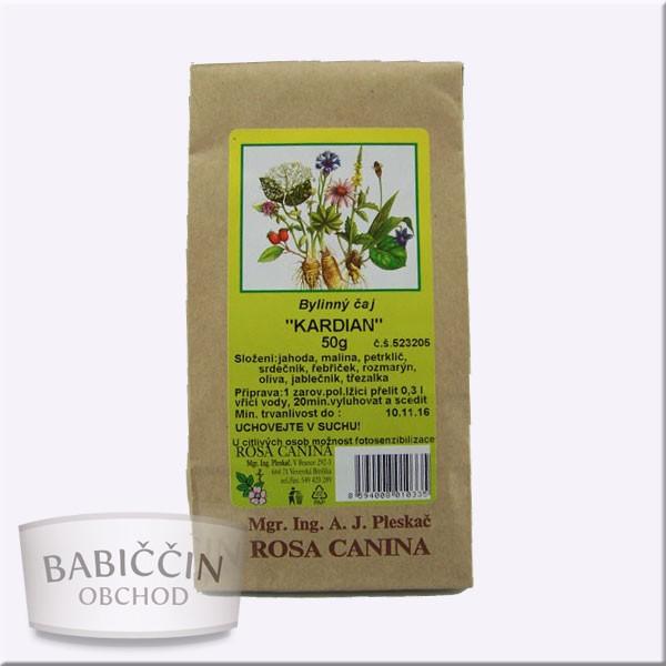 Byliny - otec Pleskač - Bylinný čaj Kardian 50 g