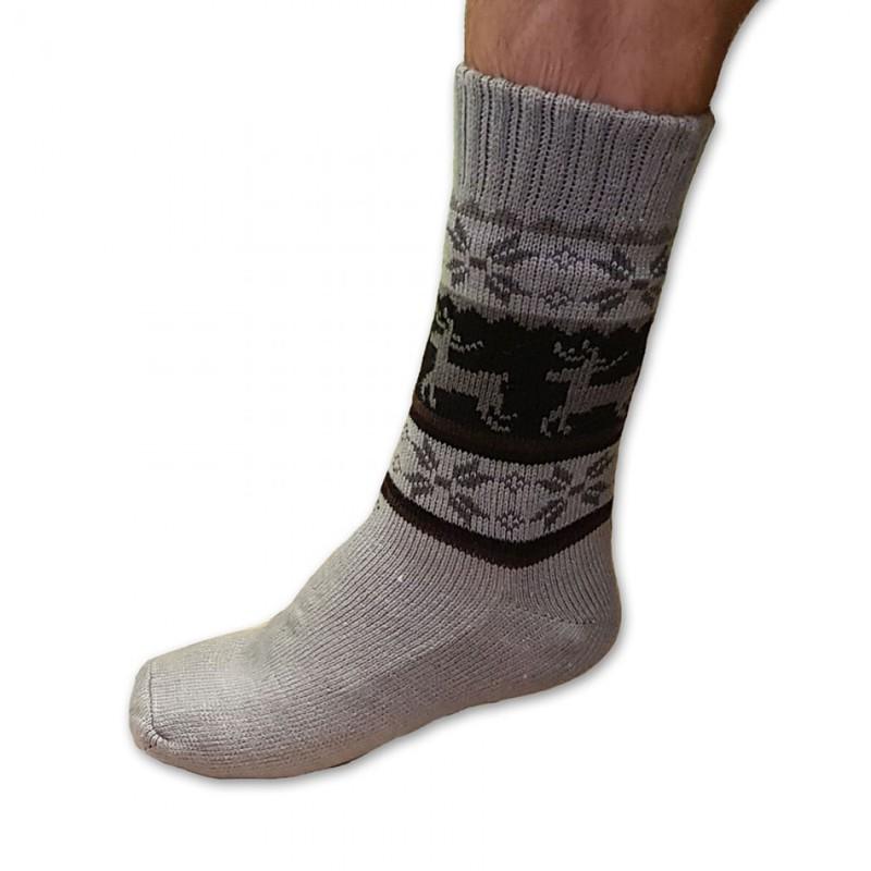 Spacie ponožky s kožušinkou pánske sivé - Babkin obchod bca072e312