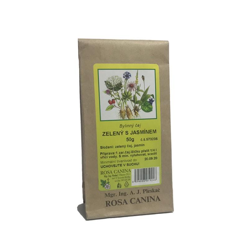 Byliny - otec Pleskač - Zelený čaj s jazmínom 50 g
