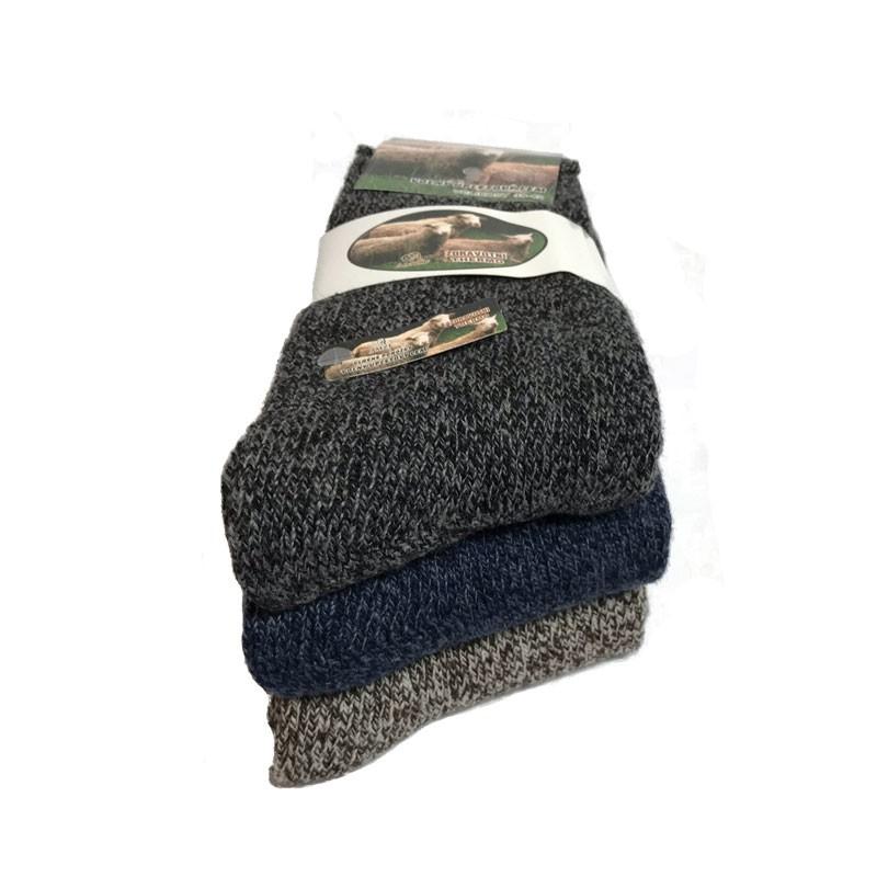 Výrobky z ovčej vlny - Vlnené ponožky mix 3 ks