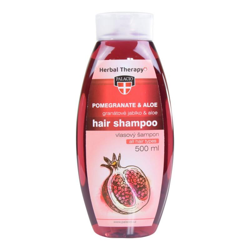 Prírodná kozmetika - Granátové jablko s Aloe šampon na vlasy 500ml