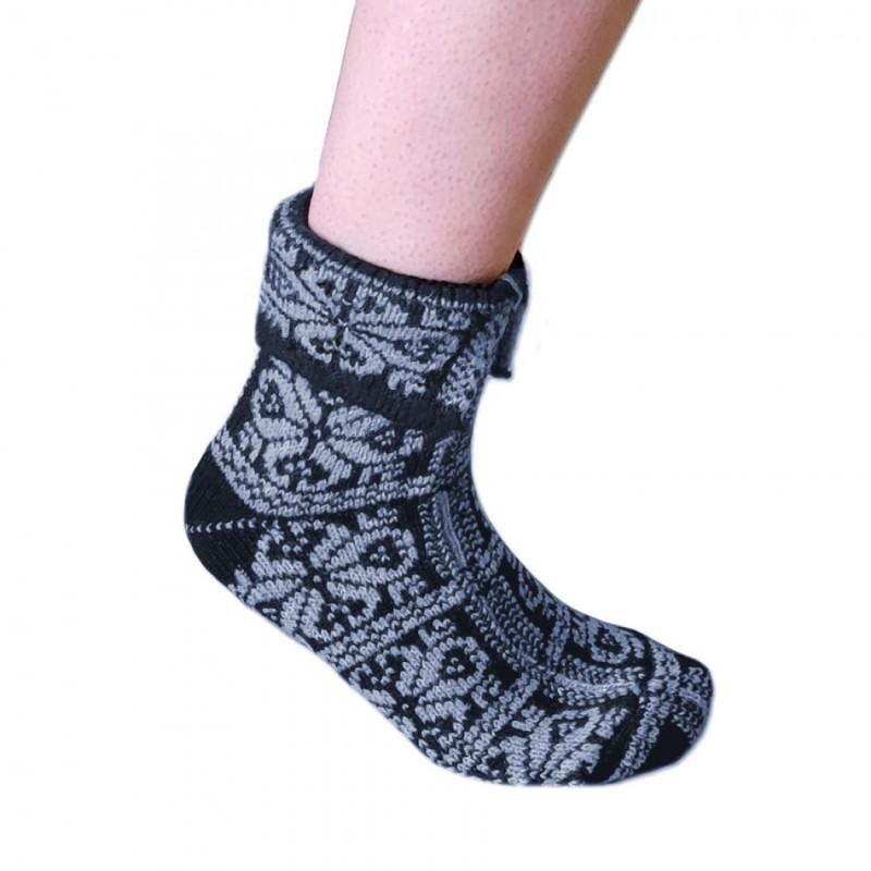 Výrobky z ovčej vlny - Ponožky Peruánky sivé