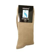 Zdravotné ponožky pánske béžové