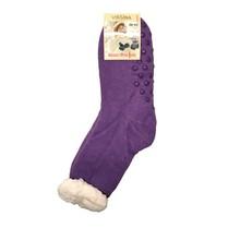 Spacie ponožky jednofarebné fialové