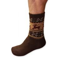 Spacie ponožky pánske hnedé