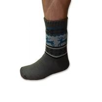 Spacie ponožky pánske tmavo sivé