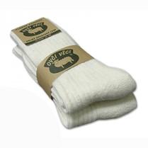 Ponožky z ovčej vlny biele