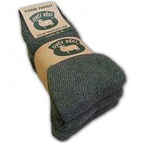 Ponožky z ovčej vlny - zelené Hunter