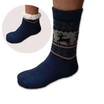 Spacie ponožky pánske modré