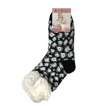 Spacie ponožky čierny leopard