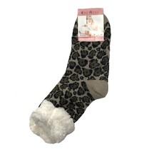 Spacie ponožky hnedý leopard