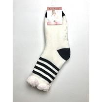 Spacie ponožky biele pruhované
