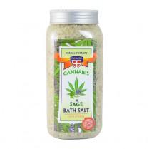Konopná soľ do kúpeľa + Šalvia 900g