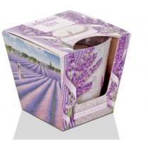 Sviečka vonná v skle LEVANDUĽA kiss - fresh lavender 115g