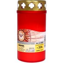 Náhrobná sviečka červená 100 g