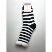 Spacie ponožky čiernobiele pruhované
